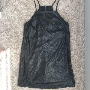 Dresses & Skirts - 'distressed leather' mini shift dress